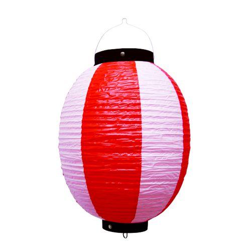 提灯・提燈(ちょうちん) 9172 祭装飾 赤白 9号丸