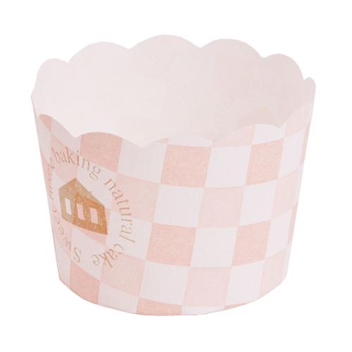 ★マフィンカップ スイート柄ピンク 100個