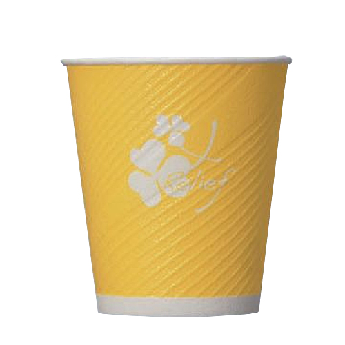 業務用 紙コップ6.5オンスレリーフカップクローバー 197ml 1200個