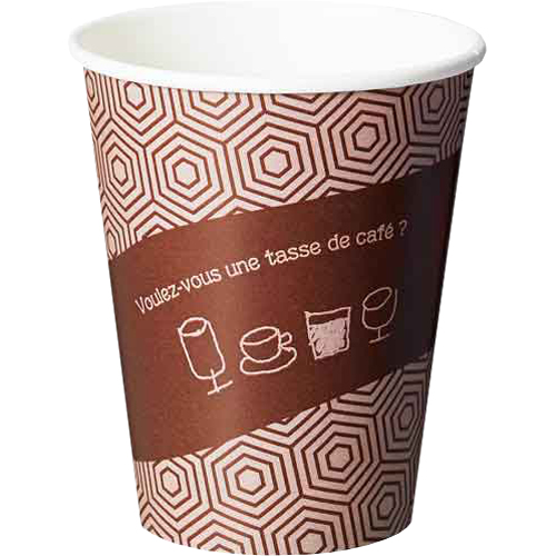 サンナップ デザインカップ 厚紙コップ280ml(タッセドカフェ) 1000個