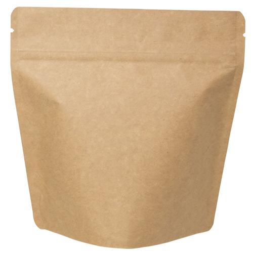 COT-871 コーヒー用スタンドチャック袋100g茶クラフト インナーバルブ付 500枚