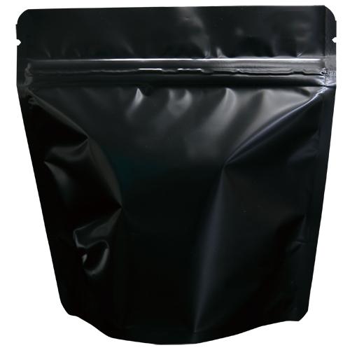 COT-872 コーヒー用スタンドチャック袋100g黒 インナーバルブ付 500枚