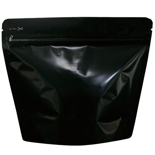 COT-852 コーヒー用スタンドチャック袋200g黒 インナーバルブ付 500枚