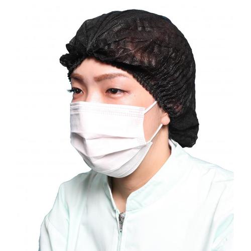 不織布使いきりヘアキャップ(黒)100枚×20小箱