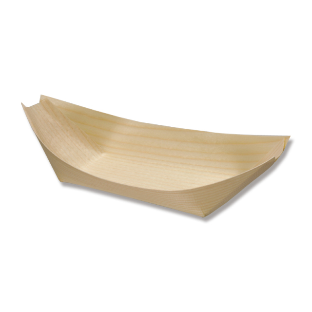 エゾ松舟皿 8寸 1000枚