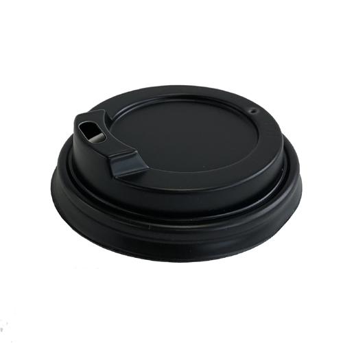 二重断熱紙カップ4オンス用蓋 黒(60口径) 1000枚