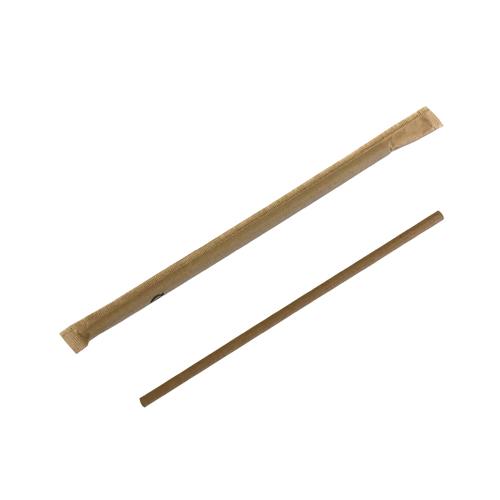 紙袋入 ペーパーストロー(6×197)未晒 5000本