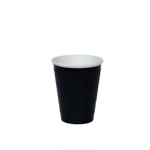 二重断熱紙コップ KMW-240 ブラック 1000個