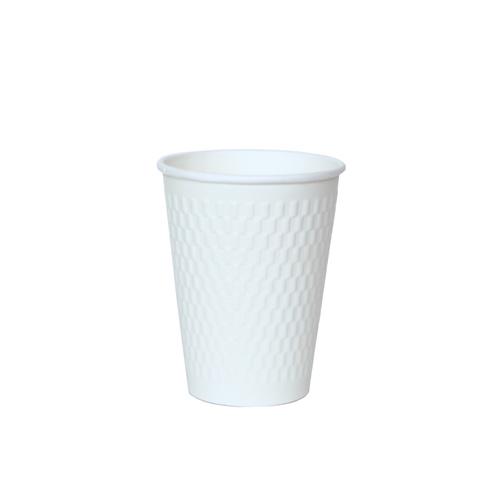 二重断熱紙コップ KMW-360 ホワイト 1000個