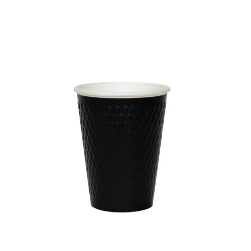 二重断熱紙コップ KMW-360 ブラック 1000個