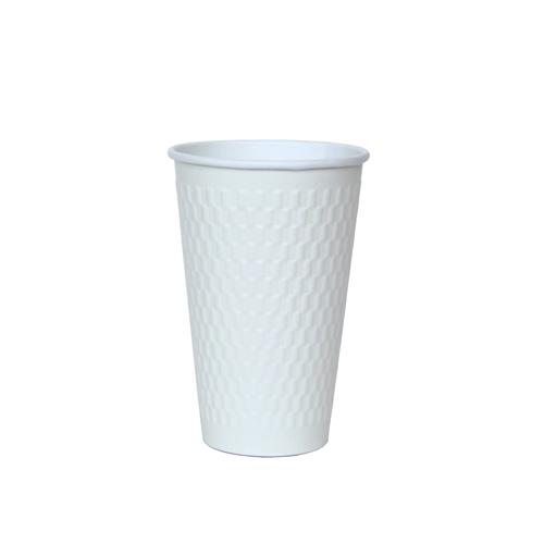 二重断熱紙コップ KMW-470 ホワイト 1000個