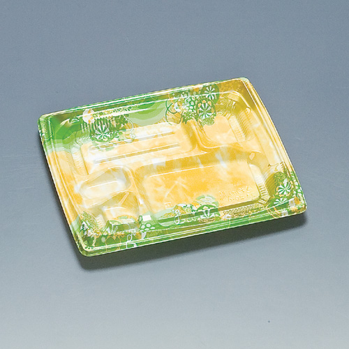 弁当容器 きわみ膳23-20-6H 御所黄緑 600枚