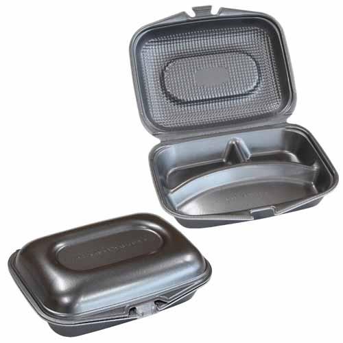 フードパック DLVランチ23-18-1 黒銀W 30枚