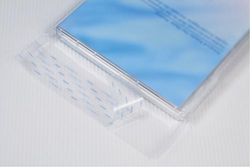OPPラッピング袋テープ付 ピュアパック T15.3-20.5(縦型DVD用)1000枚