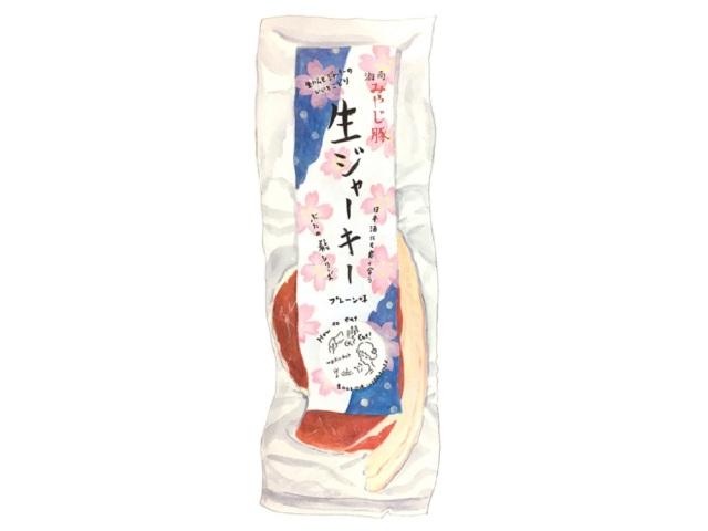 みやじ豚生ジャーキープレーンイラスト