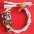 正月室内飾り水引リース羽子板【SALE】