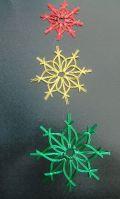 クリスマスにかわいい・・「水引雪の結晶」