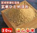 【送料無料・代引手数料無料】安全・安心でおいしい「ほたる米ひとめぼれ」 玄米30Kg