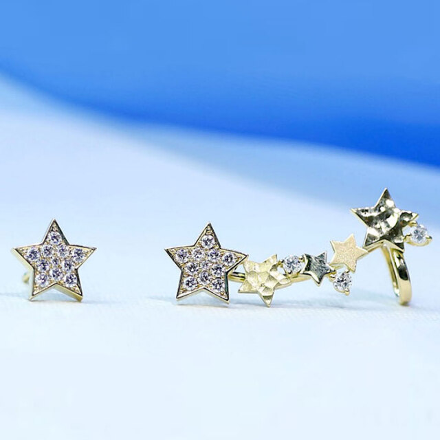 Twinkle Teinkle Little Star ☆ Pierced earrings
