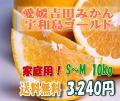 【愛媛吉田みかん・宇和島ゴールド】(河内晩柑・美生柑)10kgS~M・家庭用【送料無料】