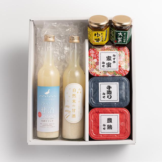 甘酒と味噌とのっけ味噌のセット