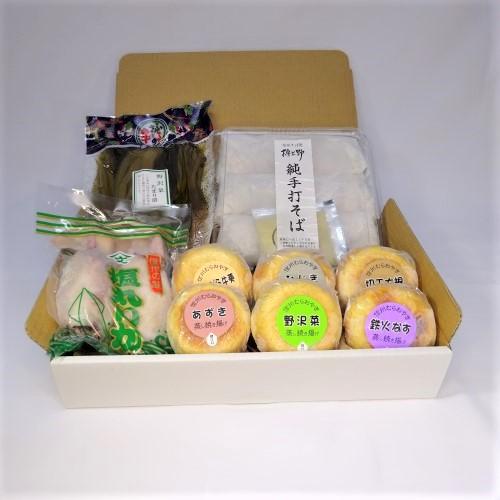 <送料無料>塩丸いか・信州名産品セット(冷凍発送)