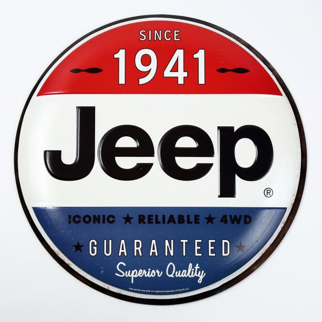 JEEP ボタン型壁掛けプレート JEEP1941