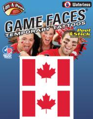 剥がして貼るだけ! FAN A PEEL フェイスシール カナダ CANADA ノーマルタイプ 送料無料!