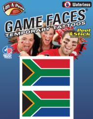剥がして貼るだけ! FAN A PEEL フェイスシール 南アフリカ SOUTH AFRICA ノーマルタイプ 送料無料!