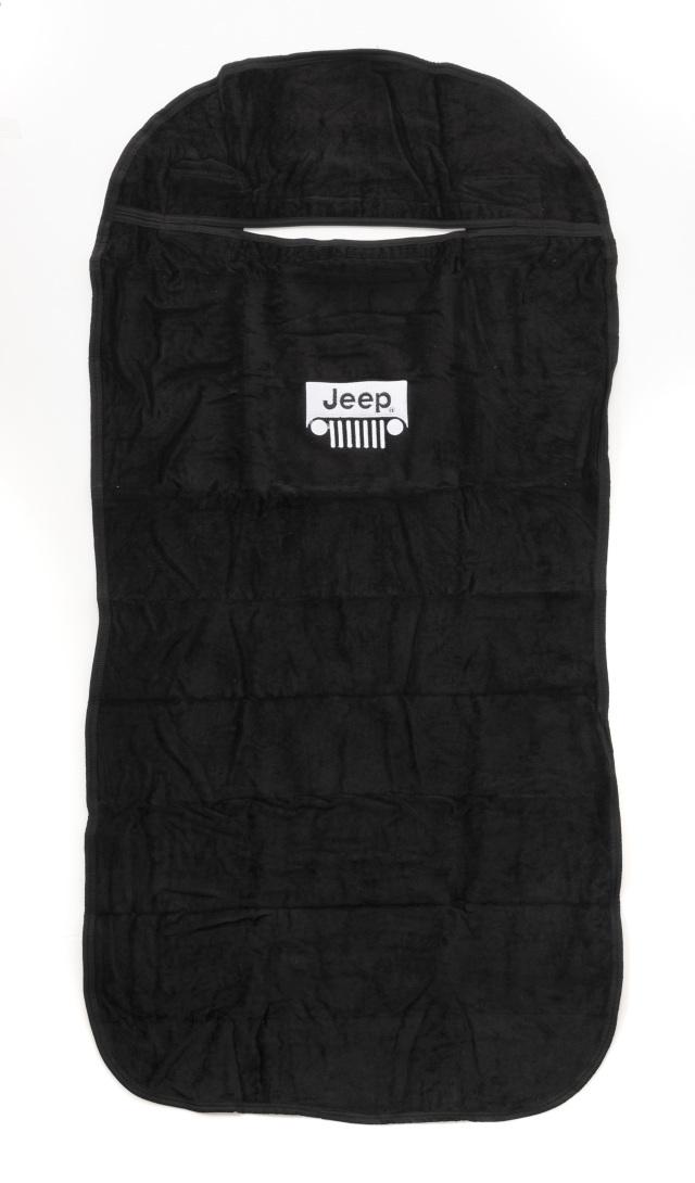 Jeepタオルシートカバー JEEP GRILL ブラック