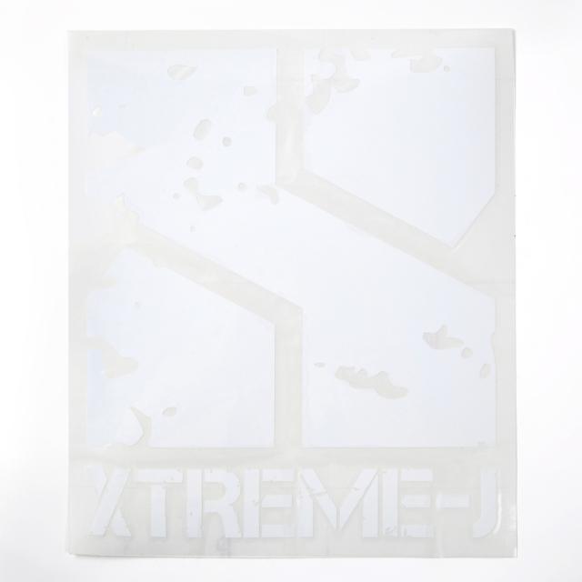 カッティングステッカー XTREME-Jロゴ LARGE 【メール便可】
