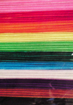 教材用カラーモール 6mmx26cm  100本