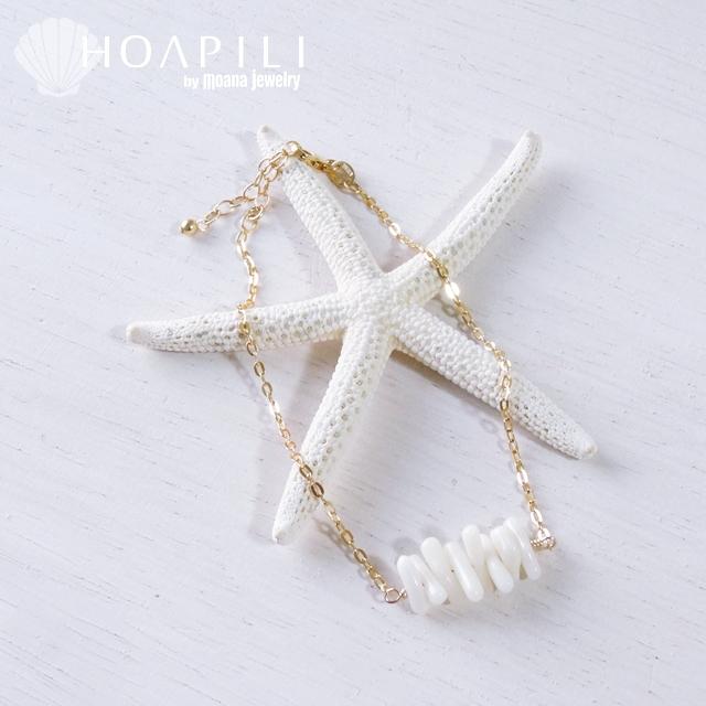 hp_a2 14KGF アンクレット White Coral