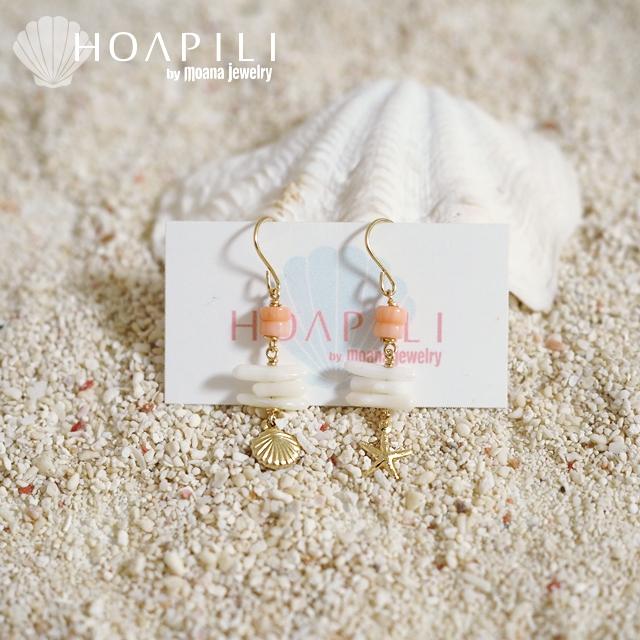 hp_p161 14KGF 珊瑚のピアス♪  The Coral Sea