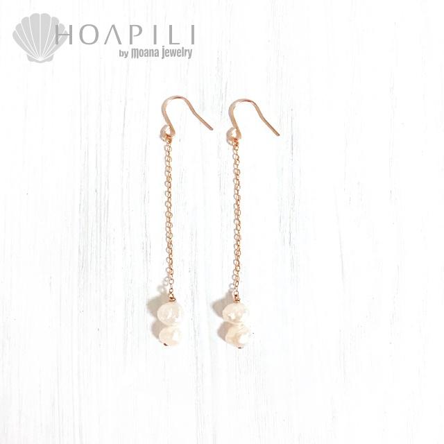 hp_p199 バロックパールが揺れる14KGFピアス  White Fresh Water Pearls