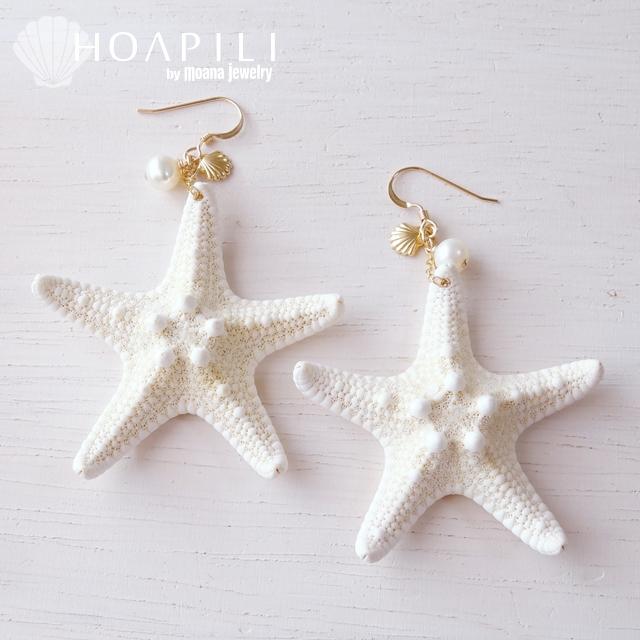 hp_p35 マーメイドになれる14KGFのヒトデピアス♪ Star Fish&Pearl