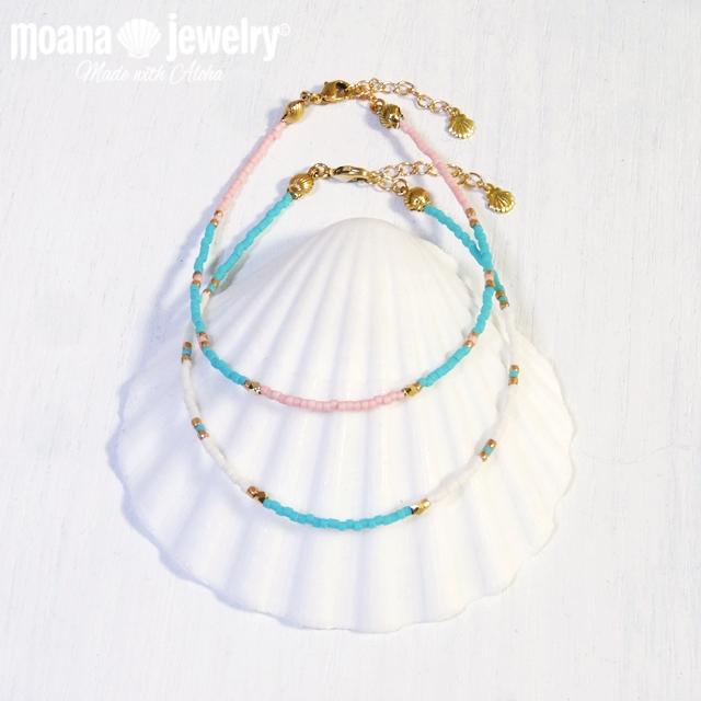 moana_a31 ガラスビーズアンクレット sea shines