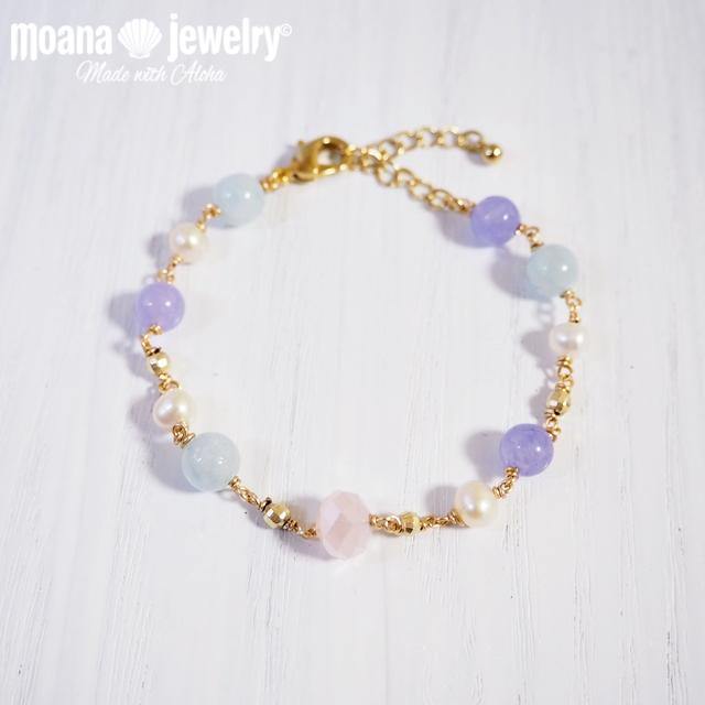 moana_b105 数量限定 天然石のブレスレット Ocean Jewelry