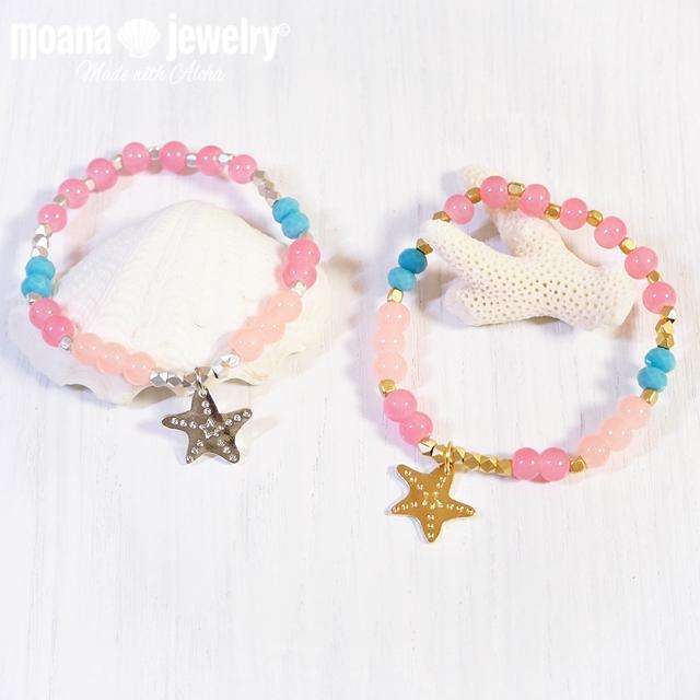 moana_b109 ヒトデチャームが揺れるブレスレット Sea Star