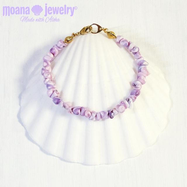 moana_b99 シェルブレスレット Lavender