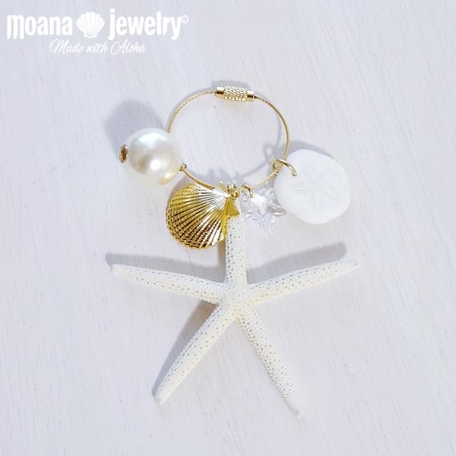moana_bc2  数量限定 Island Sea Styleバッグチャーム Sand Dollar&Sea Star