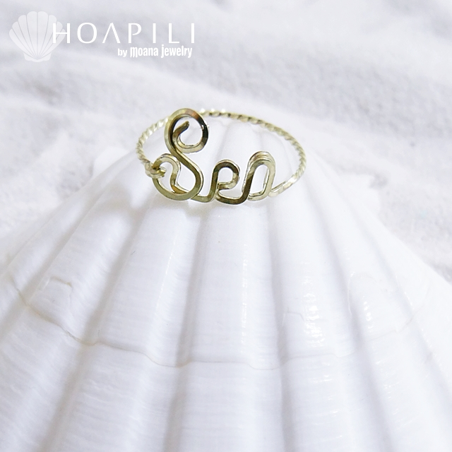 moana_hpi10ks2 数量限定 10K(10Karat Gold) ワイヤーリング Sea