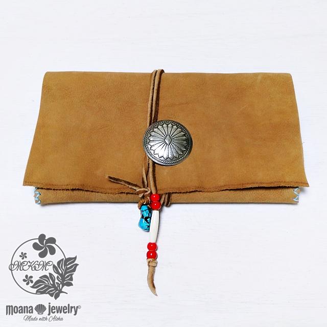moana_mkmw1 <moana jewelry限定一点もの> ●moana jewelry 別注 MKM● コンチョ付きネイティブロングウォレット(長財布) Native Long Wallet