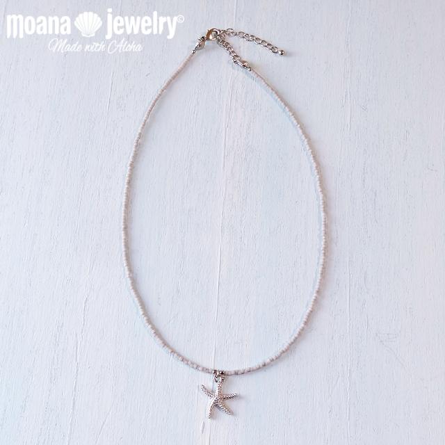 moana_n59 シンプルビーズネックレス Sea Star
