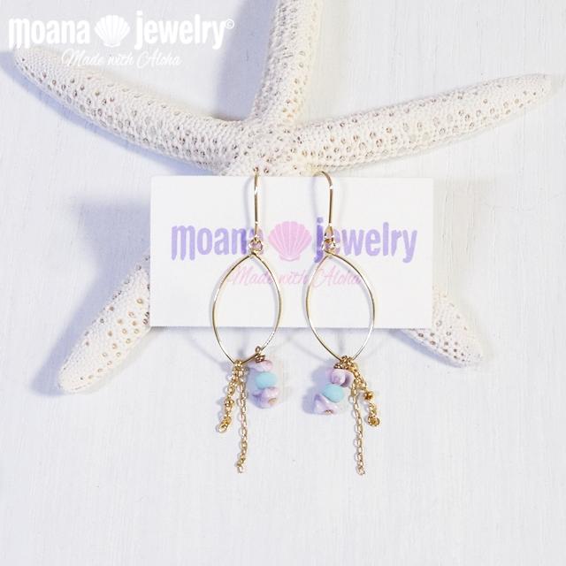moana_p224 ワイヤーフープピアス Crystal Shell