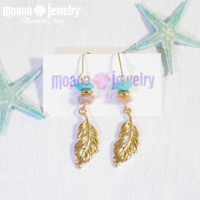moana_p233 フェザーピアス Gold Feather
