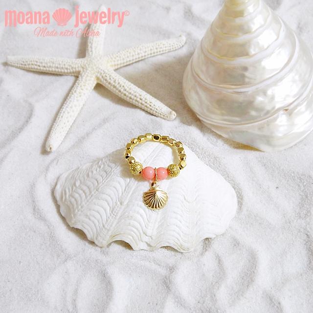 moana_r10  いつでも海を感じるリング  Aloha Ring Coral Pink