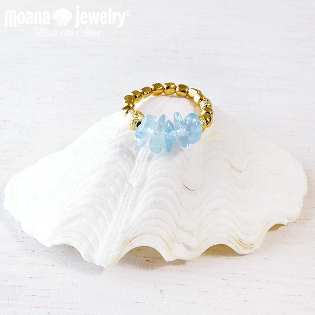 moana_r22  いつでも海を感じるリング Aloha Ring Aquamarine