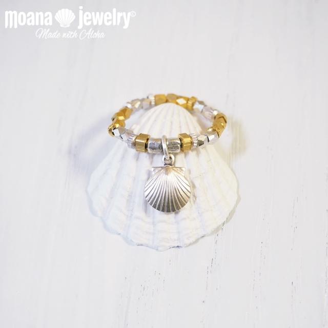 moana_r28  いつでも海を感じるメタリックリング Shell