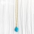 hp_n110 限定品 宝石として扱われているアリゾナ産ターコイズ 14KGF製ネックレス  Sleeping Beauty Turquoise